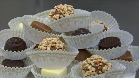 german patisserie dolly around fine chocolates 10754 Stock Video Footage