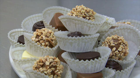 german patisserie dolly around fine chocolates 10754 Stock Video Footage