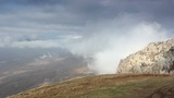 Movement of the clouds on the mountain Demerdji. Alushta, Crimea, Ukraine (TimeLapse) Footage