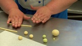german confectioner build marzipan octopus time lapse 10757 Footage