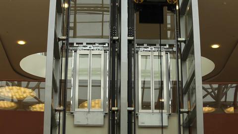 Modern elevators Stock Video Footage