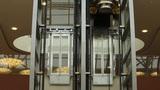 Modern elevators Footage