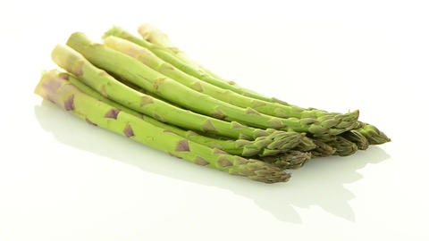 Fresh green asparagus Stock Video Footage