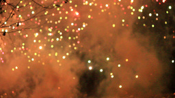 BLURRED FIREWORKS Stock Video Footage