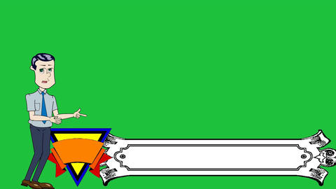 Businessman Cartoon Banner Lower Thirds: Loop Animation