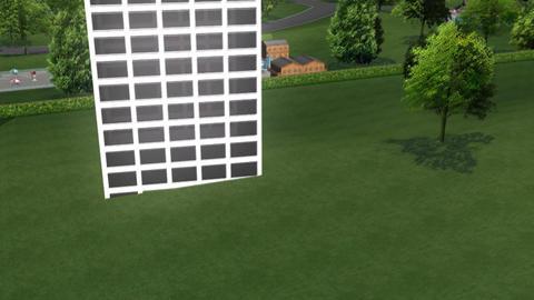 Skyscraper Panning Animation Stock Video Footage