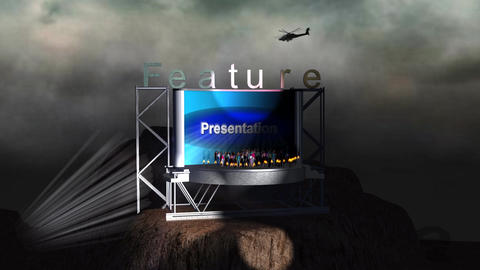 """""""Feature Presentation"""" Mountain Credit Stock Video Footage"""
