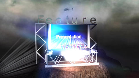 """Feature Presentation"" Mountain Credit Stock Video Footage"