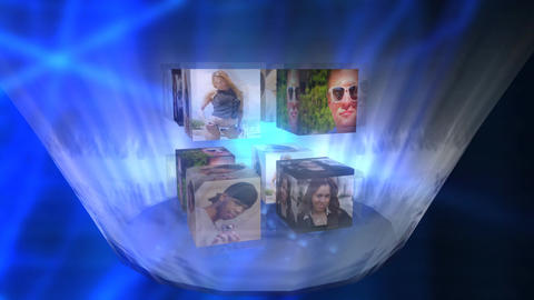 Image Cubes in Vortex Stock Video Footage