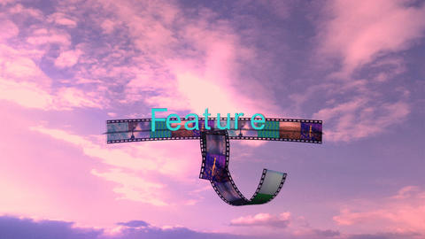 Feature Film Sequence with Sunset Clouds Stock Video Footage