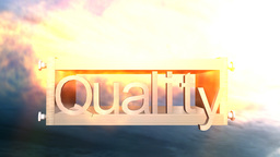 quality logo version 1 Stock Video Footage