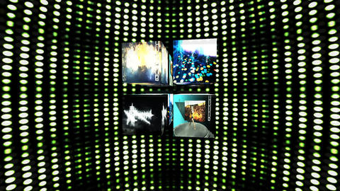 Video Cubes Elements Animation