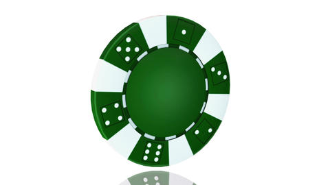 Casino chip, Animation isolate on white Stock Video Footage