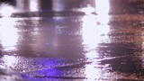 cars go at night in the rain sound Footage
