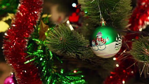 Christmas-tree decorations Stock Video Footage