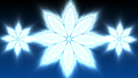 Blue Christmas Star - Abstract Background 89 (HD) Stock Video Footage