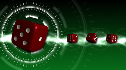Casino Dice Background - Casino 15 (HD) Stock Video Footage