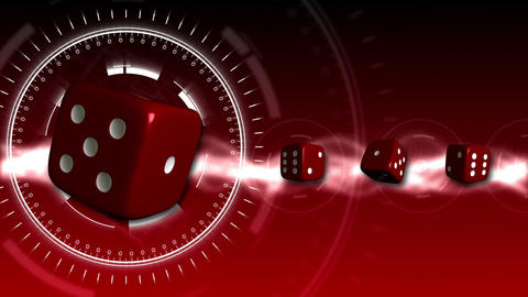 Casino Dice Background - Casino 17 (HD) Stock Video Footage