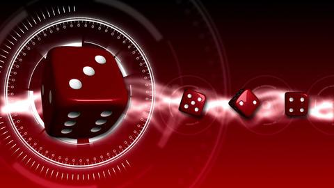 Casino Dice Background - Casino 17 (HD) Stock Video Footage