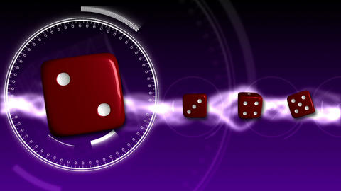 Casino Dice Background - Casino 19 (HD) Stock Video Footage