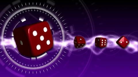 Casino Dice Background - Casino 19 (HD) Stock Video Footage