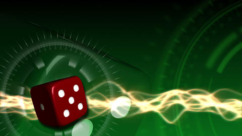 Casino Dice Background - Casino 21 (HD) Stock Video Footage