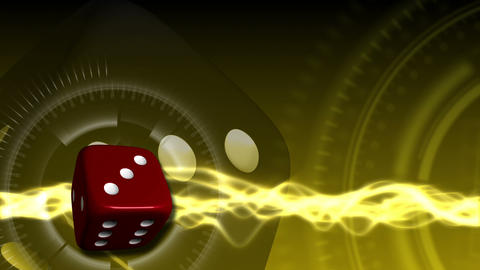 Casino Dice Background - Casino 23 (HD) Stock Video Footage