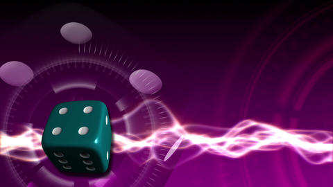 Casino Dice Background - Casino 25 (HD) Stock Video Footage