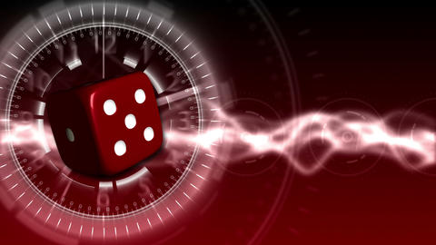 Casino Dice Background - Casino 27 (HD) Stock Video Footage