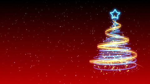 Christmas Tree Background - Merry Christmas 14 (HD) Stock Video Footage