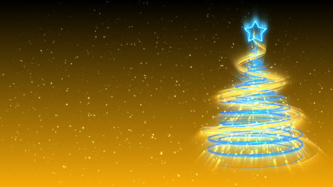 Christmas Tree Background - Merry Christmas 16 (HD) Stock Video Footage