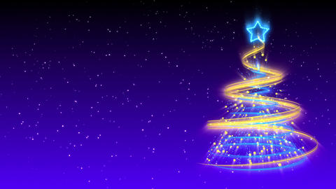 Christmas Tree Background - Merry Christmas 18 (HD) Stock Video Footage