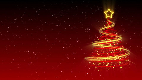 Christmas Tree Background - Merry Christmas 20 (HD) Stock Video Footage