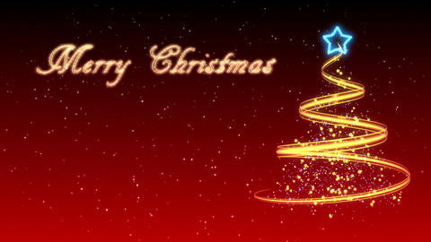 Christmas Tree Background - Merry Christmas 22 (HD) Stock Video Footage