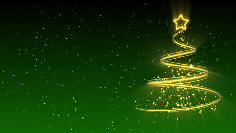 Christmas Tree Background - Merry Christmas 24 (HD) Stock Video Footage