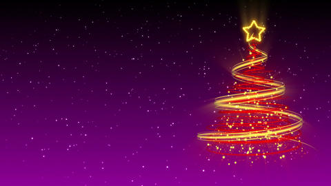 Christmas Tree Background - Merry Christmas 26 (HD) Stock Video Footage
