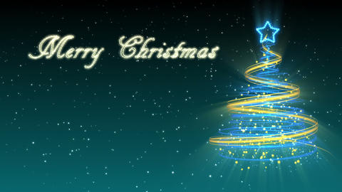Christmas Tree Background - Merry Christmas 28 (HD) Stock Video Footage