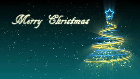 Christmas Tree Background - Merry Christmas 28 (HD) Animation