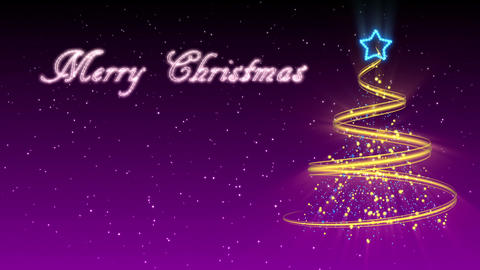 Christmas Tree Background - Merry Christmas 30 (HD) Stock Video Footage