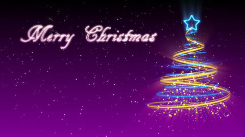 Christmas Tree Background - Merry Christmas 30 (HD) Animation