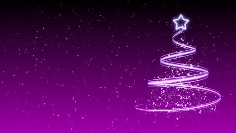 Christmas Tree Background - Merry Christmas 33 (HD) Stock Video Footage