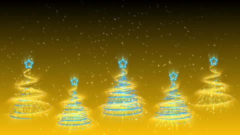 Christmas Trees Background - Merry Christmas 35 (HD) Stock Video Footage