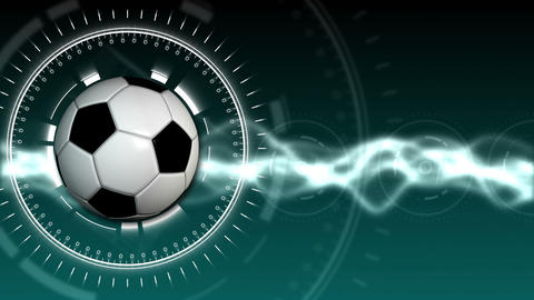 Soccer Ball Sport Background 02 (HD) Stock Video Footage