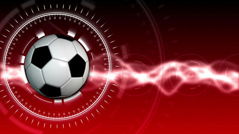 Soccer Ball Sport Background 04 (HD) Stock Video Footage
