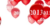 Balloons 2013 Red On White (Loop) stock footage