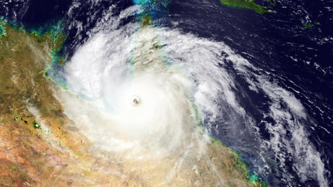 Hurricane Australia Satellite Design 02 Stock Video Footage