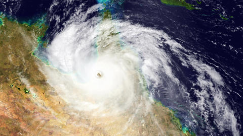 Hurricane Australia Satellite Design 02 Animation