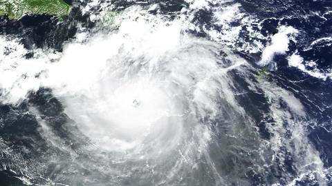 Hurricane Caribbean Satellite Design 02 Animation