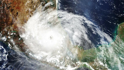 Hurricane Mexico Satellite Design 02 Stock Video Footage
