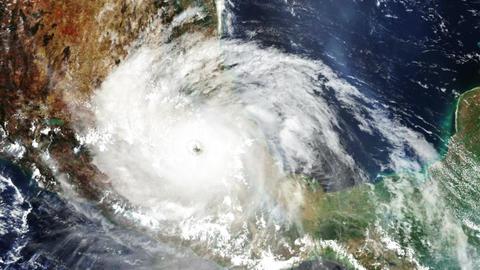 Hurricane Mexico Satellite Design 02 Animation